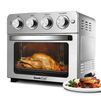 24qt convecção ar fritadeira forno de bancada, assado, assar, assar, reaquecer, frite de aço inoxidável, de aço inoxidável, cozinha de prata Barra de jantar 1700W