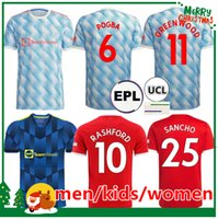 Manchester soccer jerseys 2021 2022 UNITED SANCHO CAVANI UTD VAN DE BEEK B. FERNANDES RASHFORD football shirt 21 22 man kids kit women jersey