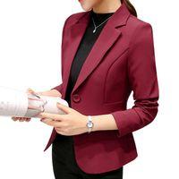 Dropship 2021 Fashion Office Lady Blazers Women Slim Turn Down Collar Blazer Mujer Retro Button Casual Suit Jackets Autumn Women's Suits &