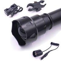 850nm 940nm t38 38 mm lente luz infrarroja visión de la noche antorcha + cargador Interruptor de presión Alcance Kit de montaje Conjunto Linternas antorchas