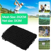 Golf Training Aids 3x3M Professional Hitting Net Garden Black Outdoor Driving Range Practice Protect Isolate Ball Golfs Accessories