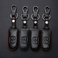 Chaveiros mão costurada carro chaveiro para MAZDA 2 3 6 CX-5 CX5 CX-3 CX-7 CX-9 Axela 2/3 Botão Smart Remote Chave Capa de Capa Remota