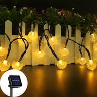 Solar String Lights Outdoor,Crystal Globe Light ,8 Lighting Modes Fairy Lights, Waterproof Solar Powered Patio Lights for Garden Yard Porch Wedding Party Decor