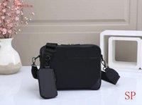 2021 Novo 2 Pçs / Set M69443 Trio Messenger Bags Canvas Mens Crossbody Bags Moda Couro Homem Bolsa De Ombro Com Bolsa Carteira Embreagem 043 #