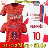 Olympique Lyonnais Lyon Fußballtrikot 21 22 Maillot de foot 2021 2022 Trikots Trikot TRAORE MEMPHIS OL Männer + Kinder Kit Uniformen
