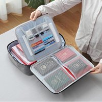Large Capacity Multi-Layer Document Tickets Storage Bag Certificate File Organizer Case Home Travel Passport Briefcase Bags