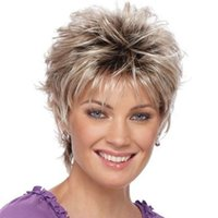 Foreign Wig Women Short Hair Mixed Color Chemical Fiber Wig Wig Cross-Border Wholesale Supply One Pi