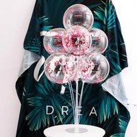 Konfeti Balon Romantik Düğün Parti Süslemeleri Altın Köpük Temizle Konfeti Balonlar Doğum Günü Dekorasyon Malzemeleri 12 inç BWC7383