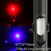 Bike Lights Bicycle Light USB Rechargeable Warning Tail COB Highlight Riding Helmet Backpack Signal