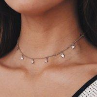 عبر الحدود مجوهرات الأزياء بسيطة نجمة قلادة قلادة مجوهرات رخيصة العرض بالجملة