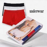21 Mens de mode Boxer Hommes Solid Color Letter Impression Sous-train Porter Confortable usure Print Sous-gardures Sous-vêtements pour hommes Sous-vêtements pour garçons Casual Sous-vêtements respirants
