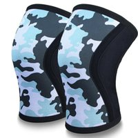 Рукава колена колена (1 пара), 7 мм толстые компрессионные скобки Поддержка для тяжелой атлетики кросс-тренировок PowerLiftimen