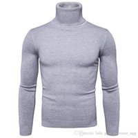 2018 2019 2020 New Winter Pullover Men Sweater Coat Knitted Turtleneck Men Sweater Man Solid High Collar Mens Turtleneck Sweaters