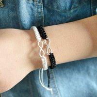 Qihe Schmuck 2 stücke Infinity Geflochtene Kit Band Armband Freundschaft Set Freundlich Liebe Paare Armband Modeschmuck