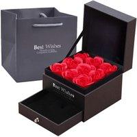 Eternal bewaard roos, ketting sieraden doos, eeuwige rode roos