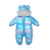 Baby Rompers Winter Newborn Down Coat Bodysuits Infant Babies Clothes Girls Boys Jumpsuit Hooded Kids One Piece Clothing Toddler Outwear Keep Warm Romper B8775
