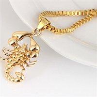 Chains Men's Necklace Gold Scorpions Pendant Hip Hop Punk Creative Jewelry Accessories Gift For Men Rock