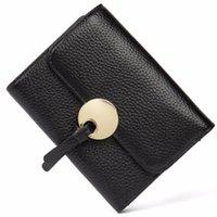 Wallets BOSTANTEN Fashion Female Mini Wallet 2021 Short Genuine Leather Panelled Women Card Holder Lady Purse