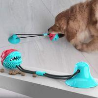 الكلب التفاعلية شفط الساحبة الحيوانات الأليفة مولار لعب tpr مضغ الكرة تنظيف الأسنان آمنة مرونة لينة جرو كأس عض الكلاب لعبة