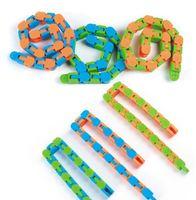 Ultimi Wacky Tracks Snap Party Favorible e click Fidget Snake Puzzles Tangle Giocattoli per bambini Adulti ADHD Autism Stress Relief Tieni le dita