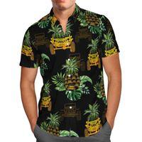 Men's Casual Shirts Pineapple 3D Beach Hawaiian 2021 Summer Shirt Short Sleeve Streetwear Oversized 5XL Camisa Social Chemise Homme-131