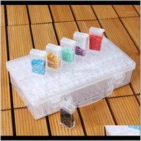 Boxes & Bins Bottles Diamond Painting Storage Box Plastic Nail Art Organizer Rhinestone Crystal Beads Container Case Jewelry Box1 Issj F8U6I