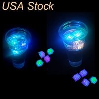 Decompression Toy Mini LED Party Lights Square Color Changing ice Glowing Cubes Blinking Flashing Novelty Supply oemled