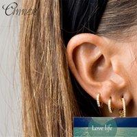 Canner 100% 925 USTERLLS Серебряные серьги миниатюрные круглые четкие кубические циркония маленькие серьги для женщин для женщин ювелирные изделия корейские заводские цена