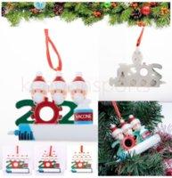 DHL 패스트 크리스마스 장식 파티 호물 장식품 수지 산타 클로스 마스크 장식 크리스마스 트리 매달려 펜던트 xxc2996