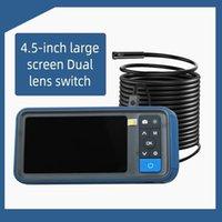 Lente doble endoscopio industrial HD 1920p 5MP Mini cámara de inspección impermeable 5 mm 2/5 / 10M Cámaras IP de boroCopo