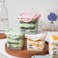 10 stücke Hohe Qualität Mousse Kuchen Gebäck Kasten Quadratische Verpackung Dichtung Jar Tiramisu Eis Creme Pudding Joghurt Dessert Becher mit Deckel Geschenk Wrap