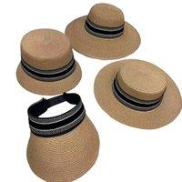 Sombrero de ala ancha 2021 clásico de lujo de lujo diseño gorra primavera y verano playa jardín resort protección sol motricidad sombreros de alta calidad al por mayor gorras de paja