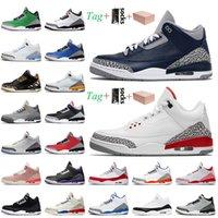 nike air jordan 3 3s jordan retro 3 stock x Sneaker 2021 مع صندوق رجل jumpman 3 أحذية كرة السلة 3S جورج تاون ريترينا الأرجواني الليزر البرتقال jth nrg المدربين أحذية رياضية
