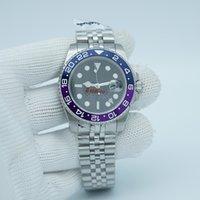 Uomini 3866 Guarda Movimento automatico 116710 GMT Purple Ceramic Sapphire quadrante Master 2 Jubilee Bracciale Braccialetto da polso da polso Orologi da polso Reloj
