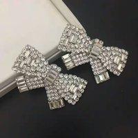 패션 - 디자이너 귀걸이 크리스탈 활 - 매듭 귀 클립 귀걸이 패션 액세서리 여성 패션 쇼 파티 럭셔리 쥬얼리 선물