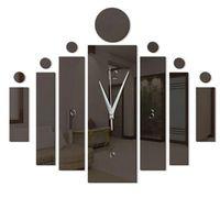 Wall Clocks Modern 12 Hour Display Clock 3D Surface Sticker Home Decor Art Design