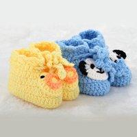 Baby First Walkers Обувь Новорожденный Малыш Младенческая Обувь Детский Крючком Вязаные Мягкие подошвы Ботинки Цветочные Девушки Мальчики Носки B6712