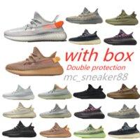 yezzy 350 Kutu Kanye V2 Koşucu Ayakkabı Kül Taş Siyah Gri Erkek Kadın Zebra Çöl Sage Sneakers Inci Doğal Kum Taupe Yansıtıcı Run Ayakkabı Spor