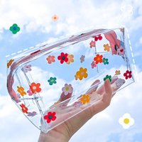Pencil Bags Transparent Big Case PVC School Supplies Bag Stationery Gift Back To Box By Kevin&sasa Crafts