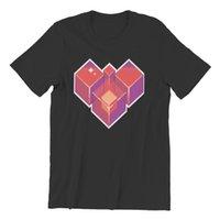 T-shirt da uomo Pixel cuore carino USA Dimensione anime Abbigliamento uomo 84548 T-shirt