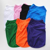 Pet Dog Clothes DIY Blank Puppy Shirts Solid Color Small Dogs Vest Sleeveless Dog Outwear Pet Supplies 8 Colors YG974