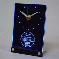 Wall Clocks Tnc1021 Willem II Tilburg Eredivisie Football 3D LED Table Desk Clock