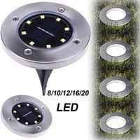 Éclairage extérieur Éclairage solaire Panneau à moteur LED lampes de plancher LED Lumière de pont 8/10/12/16/20 LED LED SOUTERRAINE PLUS DE JARDOWWAY PLAYS SPOT
