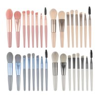 Makeup Brushes 8pcs set Brush Set Portable Storage Powder Blush Face Eye Foundation Full Of Beginner Tool