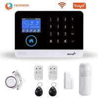WIFI GSM Alarm Güvenlik Sistemi Akıllı Ev App Kontrolü Duman Dedektörü Ile Kablosuz Smarthouse Güvenlik Alarmları Birden Çok Tipler11
