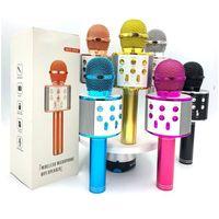 Vendas diretas de fábrica WS858 Bluetooth microfone sem fio Microfone Home Microfone com áudio Integrado K Song Artifact