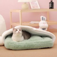 Cat Beds & Furniture Sleeping Bed WarmSleeping Bag For Cats Deep Sleep Winter Comfortable Mat House Puppy Nest Cushion