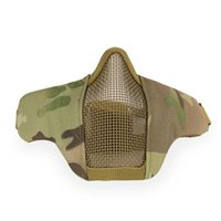 Cycling Caps & Masks Protective Military Army Wargame Hunting Accessories Paintball Tactical PDW Half Face Mask Metal Mesh Skull