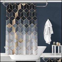 Window Treatments Textiles Home & Gardencolorf Shower Curtain Creative Digital Printing Curtain-Waterproof Polyester Bathroom Sunshade Showe