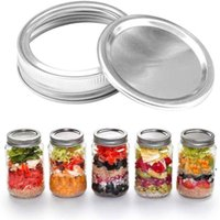 70MM 86MM Regular Mouth Canning Lids Bands Split-Type Leak-proof for Mason Jar Canning Lids Covers with Seal Rings NHF6602